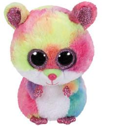 China Ty Beanie Babies Rodney Pink Hamster Boo Dragon Cat Owl Pig Dragon  Wolf Cat Fox 55560974ba4