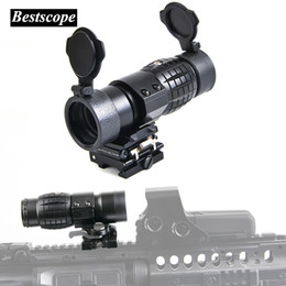 Wholesale Covers Rails - Tactical 3X Magnifier 30mm Scopes Optics Focus Adjusted Fits Red Dot Sight with Picatinny Weaver Rail Mount With Covers