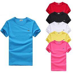 Футболка модный бренд Мужчины Женщины с коротким рукавом футболка лето Крокодил вышивка мужские тройники высокое качество повседневная блузка топы S-6XL плюс размер от
