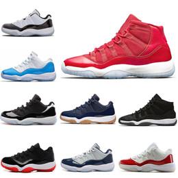 2019 marcas de moda rápida Marca de moda é bem conhecida mulheres homens 11 baixo concord alta raça alta ginásio vermelho basquete ao ar livre atletismo sapatos size5.5-13 entrega rápida marcas de moda rápida barato