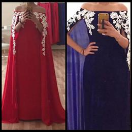 2019 arabische damenmode 2018 Bateau Arabischen Stil Sexy Lange Rote Abendkleider Damen Formale Party Kleider Spitze Appliques Prom Party Kleid Nach Maß Plus Größe günstig arabische damenmode