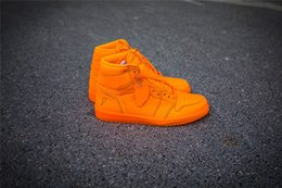 Wholesale Orange Peels - NEW AIR 1S RETROS RET HI OG G8RD BG BE LIKE MIKE GATORADE BASKETBALL SHOES ORANGE PEEL PELURE D'ORANGE SNEAKERS LIGHTNING STORM SPORTS SHOES