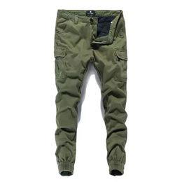 European American Fashion Streetwear Mens Jeans Jogger Pants Ropa de marca  Color azul marino Pantalones ankle Banded Denim Tied Jeans 155385829fbb5