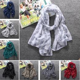 2019 sciarpe stampate in voile moda 8 colori di alta qualità Donne sciarpe voile felice musica di alta qualità stampato sciarpa donne scialle T5C041 sciarpe stampate in voile economici