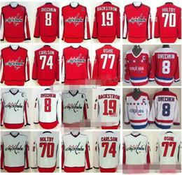 Ice Hockey Washington Capitals 8 Alexander Alex Ovechkin Jersey 77 TJ Oshie  74 John Carlson 70 Braden Holtby 19 Nicklas Backstrom Red White capital  jerseys ... 63a2316e5f47