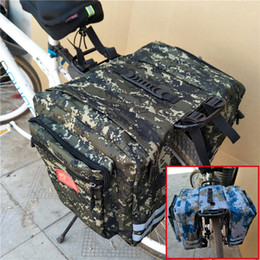 bicicletários Desconto Ampliada Mountain Bike Camo Saddle Bag Mountain Bike Rack Saddle Bag Multifuncional Estrada Bicicleta Pannier Tronco Do Assento Traseiro