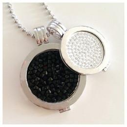 2019 münzenhalter halskette anhänger Vinnie Design Jewelry My Coin Anhänger Halskette mit 2 Stück Kristallmünzen, 2 Stück Münzhaltern und 1 Stück 80 cm Kugelkette günstig münzenhalter halskette anhänger