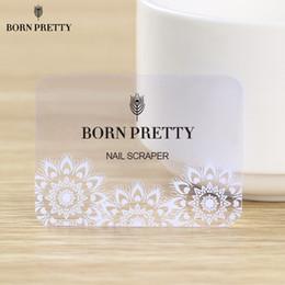 Estampado de uñas de arte x online-NACIDO PRETTY Navidad Nail Art Stamping Scraper Snowflake Clear Stamp Mini tarjeta de 5.5 x 4 cm