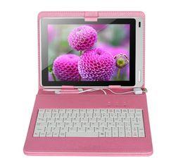 Универсальный чехол для клавиатуры с клавиатурой онлайн-7-дюймовый клавиатура кожаный чехол с подставкой держатель универсальный планшет клавиатура чехол