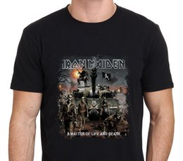 Wholesale high death - IRON MAIDEN A Matter of Life and Death T-Shirt Black Size S-to-3XL T Shirt Casual O-Neck T-Shirt Men High Quality Tees