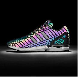 dac5a586c81 Vendita al dettaglio ZX FLUX XENO Le scarpe da uomo e da donna camaleonte  Boost riflettenti scarpe sneakers nere in vendita Scarpe sportive Sneakers  36-44