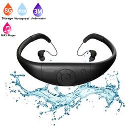 Wholesale Waterproof Mp3 Bluetooth Headphones - Tayogo IPX8 100% Waterproof Underwater Sport HIFI MP3 Music Player Bluetooth headphone with FM bluetooth Pedo Meter for Swimming