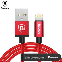 Wholesale mfi cables - Baseus MFI USB Cable For iPhone iPad iPod USB Charger Cable For iPhone X 8 5 6 7 Plus 2.4A Fast Charging Charger Cable