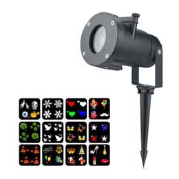 Natal Projetor Laser Light 12 Lente Substituível Padrões Coloridos Luz Da Noite de Casamento Fada Jardim Gramado Lâmpada Paisagem