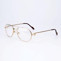 Wholesale Reading Glasses Round - High Quality Metal Frames Reading Glasses Eyeglasses Prescription Eye Glasses Frames Women Clear Lenses Case for Men CT1191