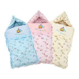 Wholesale Winter Blanket For Newborn Baby - Winter Baby Sleeping Bag Cotton Envelopes For Newborns Baby Sleeping Sacks Bedding Blankets Newborn Swaddle Stroller Wrap