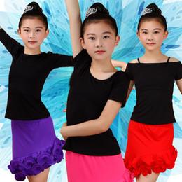 2019 mädchen latin röcke 2018 Neue Sexy Mädchen Latin Dance Tops Verkauf Rumba Cha Cha Samba Für Kinder Latino Praxis Tanzen Kleidung Nicht Einschließlich Rock günstig mädchen latin röcke