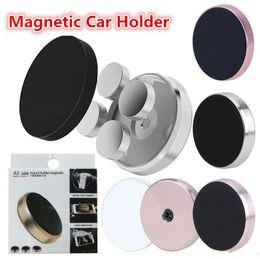 2019 mini-handy-halter Universal Stick Magnetische Autohalterung Mini Handy Auto Flachhalterungen Mit Kleinpaket Für iPhone XS MAX XR X 8 7 6 Plus Samsung S10 S9