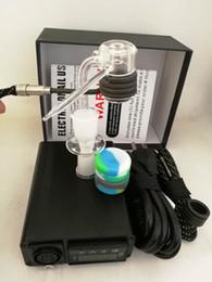 2019 dab tubes Tubo de Quartzo portátil completo Elétrica dab unha PID Controlador de Temperatura E unhas kit vaporizador de cera 20 MM dabber caixa de vidro bongo desconto dab tubes