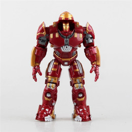 Wholesale Ironman Action Figures - Suzannetoyland NEW The Avengers 2 Hulkbuster IronMan Hulkbuster PVC Action Figure Collectable Model Toy Brinquedos 14cm