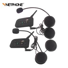 2 Pcs Vnetphone V6 Casque De Moto Bluetooth Casque Bluetooth Intercom BT Interphone Sans Fil Pour 6 Cavaliers Intercomunicador Motocicleta ? partir de fabricateur