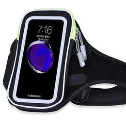 Wholesale Cell Phone Armband Clip - Waterproof Sports Running Case Armband For iPhone X 6 7 8 Plus Pouch Cell Phone Arm Bag Mobile Pocket Bag Universal