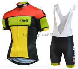 Wholesale cycling clothing sales - CINELLI 2017 Hot Sale Sportwear short sleeve cycling jersey bib shorts shirt set clothing MTB bike ropa ciclismo Breathable racing wear