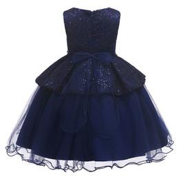 Deutschland Dunkelblaue Mädchen Abendkleider Prinzessin Ärmellose Kleider Hochzeit Ballkleid für Kinder 18052601 supplier navy blue wedding dresses for kids Versorgung