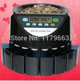 Münzen maschine online-Elektronischer Münzenzählermünzensortierer, der Maschine für die meisten Ländermünzen außer Kanada, die Türkei, die Vereinigten Staaten, Russland zählt