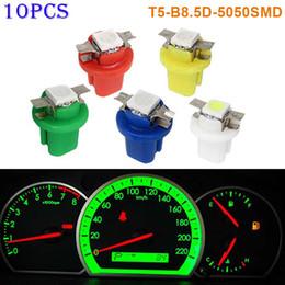 Wholesale t5 dash lights - Newest 10pcs T5-B8.5D-5050smd LED SMD Lamp Car Gauge Speed Dash Bulb Dashboard Instrument Light 12V @8