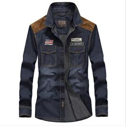 Wholesale Men S Big Collar Shirts - Jeep Jeans Man's Shirt Long Sleeve Autumn Casual Man Big Size 4XL Cotton Shirt Coat