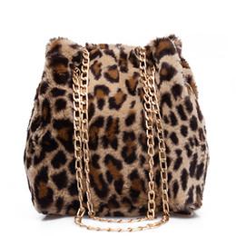 Faux Fur Leopard Bucket Bags For Women 2018 New Fashion Small Winter  Shoulder Bags Ladies Crossbody Female Warm Handbag 9acc08ea25e4f