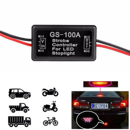 Wholesale Car Strobe Light Controller - Light Lamp GS-100A Flasher Module Car Strobe Controller LED Brake Tail Stop Car LED Brake Stop BBA132