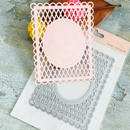 Sello para papel online-Craft Dies Lace Net Frame Decoración Metal Cutting Dies Scrapbooking estampados en relieve nuevo 2017 papel Tarjeta borde plantilla punch DIY