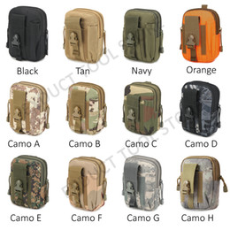 Wholesale Soccer Phone Covers - Outdoor Bag Tactical Tools Holder Wallet Pouch Purse Military Molle Hip Waist Belt Mobile Phone Case Cover Sports Knife Holster Pack Zipper
