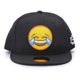 D9 caps online-Justdon D9 Character Cry Expression Snapback Cappelli Hiphop Style Solid Flat Bill Miscela di lana di alta qualità BaseBall Caps For Men Women In Black