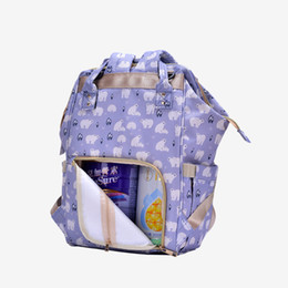 Argentina Summer Mommy Bags Más Función de gran capacidad Waterproof Mommy Both Shoulders Backpack Handbag Moda Baby Diaper Nappy Package Joker Bag cheap package diaper Suministro