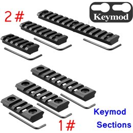 Wholesale Picatinny Handguard - Keymod Picatinny Rail Sections 5 7 13 Slot Rail Section for Keymod Handguard Mount Rail System with 3 Allen Wrench & Solid-Style 3 Pack