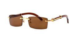 Nouvelle arrivée 2018 marque lunettes de soleil pour hommes femmes corne de buffle lunettes sans monture designer lunettes de soleil en bois de bambou avec boîte cas lunettes ? partir de fabricateur
