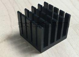 Wholesale Heated Block - 10pcs Good heat sink 20*20*16MM black oxide electronic radiator CPU radiator aluminum heat conduction block black heatsink