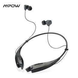 collar de auriculares inalámbricos Rebajas Original Mpow Jaws Wireless Bluetooth 4.1 Auriculares Auriculares Crystal Sound Light Necklace Auriculares estéreo manos libres Auriculares