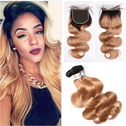 Cheveux doux Bundles Top Qualité 4 * 4 Dentelle Fermeture Avec Bundles Vague de Corps Miel Blonde Cheveux Avec Fermeture Livraison Rapide Vierge Brésilienne Cheveux ? partir de fabricateur