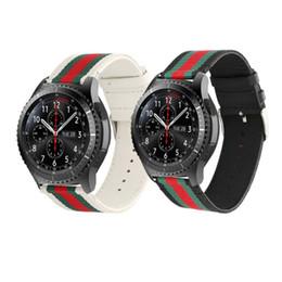Lederarmband xiaomi online-22mm Nylon + Lederband für Samsung Gear S3 Grenze / klassische Band Armband Gürtel Smart Watch Armband für Xiaomi Huami amazfit