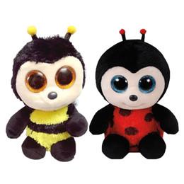 ti nuovi grandi occhi Sconti New Hot TY Beanie Boos Black Bees Big Eyes Animali Peluche ripiene Giocattoli Miglior regalo per bambini Toy TY Nano Dolls Giocattoli educativi