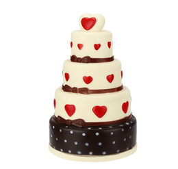 Wholesale Soft Toys Heart - Jumbo Multi-layer Cake Squishy Heart Chocolate Cake Slow Rising Super Soft Squeeze Decompression Toys Home Decoration DDA121
