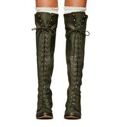 2019 армейские сапоги с высокими бедрами Кожа женщины колено высокие сапоги зима бедро высокие зашнуровать квадратный каблук сапоги армия зеленый Zapatos Mujer обувь женщина чулки дешево армейские сапоги с высокими бедрами