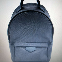 2019 silber metallic farbe schultertasche Kostenloser versand 41562 Mode Palm Springs Rucksack Mini Echtes Leder Kinder Rucksack Frauen Druck Ledertasche