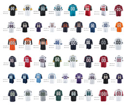 Wholesale Football Shirt Printing - Men Women custom Shirts 32 teams jersey Personalized American Custom Jersey white color Any Name Any Number customized football stitched