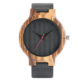 Wholesale Plastic Band Black For Watch - Vintage Black Woven Pattern Design Watches Men Real Leather Band Fashion Casual Carving Clock Gift for Male Simple Wristwatch Saat Gifts
