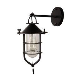 Canada Loft créatif rétro country américain industriel vent salon chambre lampe de chevet en fer forgé petite lampe de mur de cage Offre